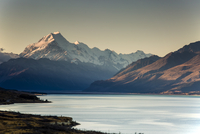 Scenic view of Lake Pukaki and Mount Cook, South Island New Zealand