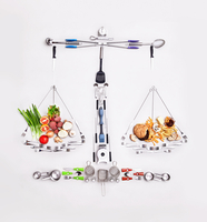 Still life concept healthy and unhealthy foods forming scale 11086032485| 写真素材・ストックフォト・画像・イラスト素材|アマナイメージズ