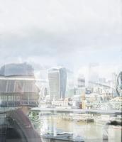 Pensive businessman looking at urban city view, London, UK 11086034024| 写真素材・ストックフォト・画像・イラスト素材|アマナイメージズ