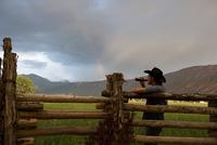 Cowboy taking a break