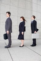 Businesspeople in a row