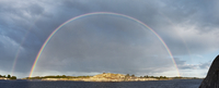 Sweden, Stockholm Archipelago, Sodermanland, Angskar, Double rainbow