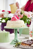 Sweden, Focus on cake on cake stand
