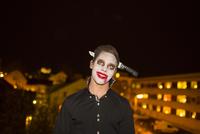Sweden, Man in Halloween costume