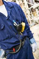 Sweden, Vastra Gotaland, Gothenburg, Worker wearing protective workwear at factory