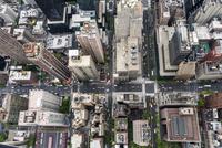 USA, New York City, Manhattan, Aerial view of city