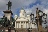 Finland, Helsinki, View of Helsinki Cathedral
