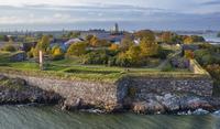 Finland, Helsinki, View of Suomenlinna fort