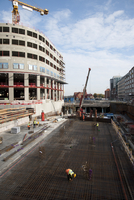 Sweden, Uppland, Solna, Hagastaden, Construction site
