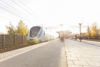 Sweden, Sodermanland, Jarna, View of railway platform