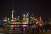 China, Shanghai, Cityscape at night