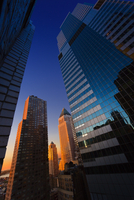 USA, New York State, New York, Manhattan, Low angle view of skyscrapers