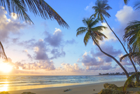 Trinidad and Tobago, Tobago, Rockley Bay, Scenic view of sunset at seaside