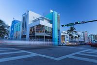 USA, Florida, Miami, Modern building on street corner
