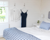 Sweden, Bedroom with blue and white themes