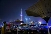 China, Shanghai, Outdoor restaurants at night