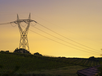 Italy, Velletri, Power lines