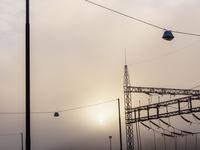 Sweden, Vastra Gotaland, Boras, Electricity cables