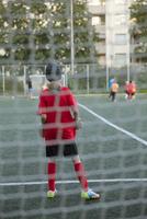 Sweden, Stockholm, Sodermalm, Children (6-7, 8-9, 10-11) playing soccer