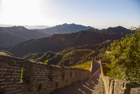 China, Beijing, View of Great Wall of China and landscape