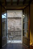 Spain, Majorca, Palma, Chair on balcony