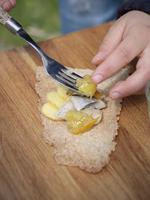 Sweden, Putting pickled herring on crispbread