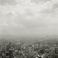 Asia, Malaysia, Kuala Lumpur, Clouds over financial district