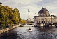 Germany, Berlin, View of River Spree