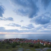 Denmark, Bornholm, Gudhjem, Townscape and sea 11090017120  写真素材・ストックフォト・画像・イラスト素材 アマナイメージズ