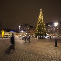 Sweden, Skane, Malmo, Stortorget, Town square at night 11090017323| 写真素材・ストックフォト・画像・イラスト素材|アマナイメージズ