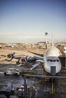 Sweden, Uppland, Arlanda Airport, Airplane on airport