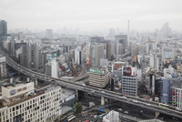 Japan, Tokyo, Shibuya, Cityscape in fog 11090017610| 写真素材・ストックフォト・画像・イラスト素材|アマナイメージズ