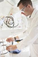 Sweden, Scientist working in lab