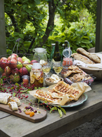 Sweden, Apples, cakes and bread on table