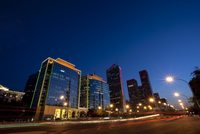 Night view of central business district, Beijing