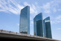 View of skyscrapers in central business district, Beijing
