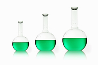 Three rounded shaped scientific chemical flasks  11093002520| 写真素材・ストックフォト・画像・イラスト素材|アマナイメージズ