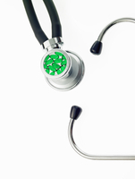 A doctor's stethoscope with green tubing, concept 11093002543| 写真素材・ストックフォト・画像・イラスト素材|アマナイメージズ