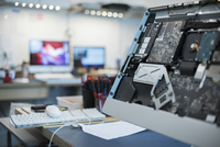 Computer Repair Shop. Circuit boards and computer parts.  11093004611| 写真素材・ストックフォト・画像・イラスト素材|アマナイメージズ