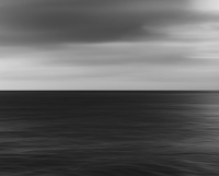Blurred motion, the sea at dusk.
