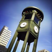 Rebuilt very first traffic light of Germany, at Potsdamer Platz, Germany, Berlin,