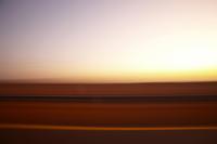 motion shot of the desert