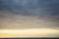 Clouds in sunset sky over ocean