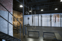 Vacant crossfit gym equipment