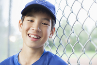 Portrait of twelve year old baseball player.