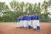 Team photo of boys baseball team.