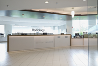 Reception area of radiology center