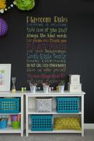 Rules written on blackboard in playroom 11096027053| 写真素材・ストックフォト・画像・イラスト素材|アマナイメージズ