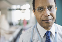 Portrait of confident male doctor