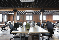 Interior of creative office space